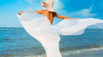 Lady on a summer beach